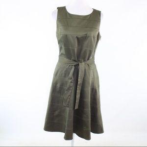 Calvin Klein green cotton blend A-line dress 10